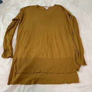 Mustard Yellow high low sweater